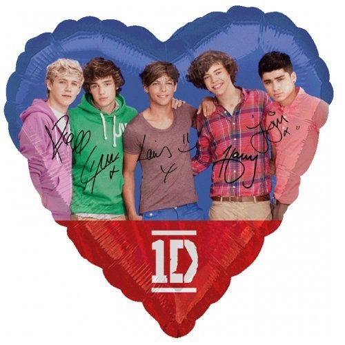 Globo One Direction - Corazon 45cm Foil Poliamida - A2679101