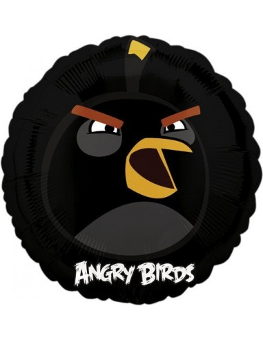 Globos Foil Angry Birds Black Bird - Redondo 45cm - A-2577601