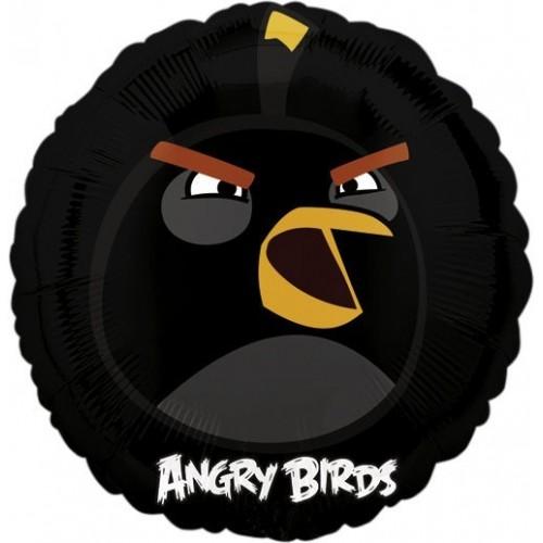 Globo Angry Birds Black Bird - Redondo 45cm Foil Poliamida - A2577601
