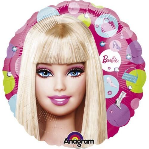 Globo Barbie Pattern - Redondo 45cm Foil Poliamida - A11838001