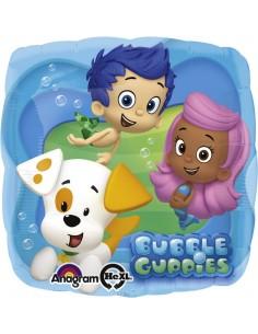 Globos Foil Bubble Guppies - Cuadrado 45cm - A-2744601