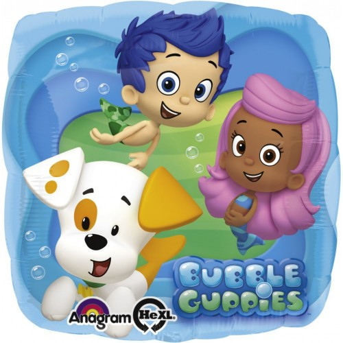 Globo Bubble Guppies - Cuadrado 45cm Foil Poliamida - A2744601