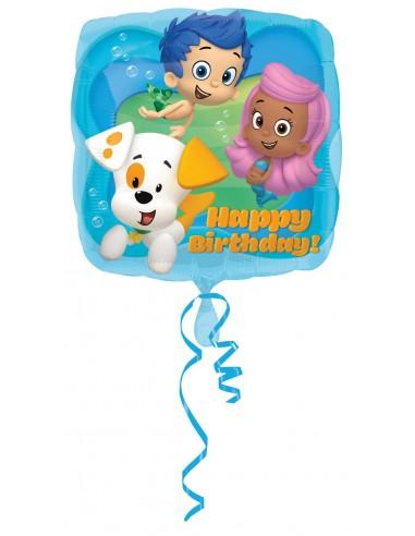 Globos Foil Bubble Guppies HBD - Cuadrado 45cm - A-2980901