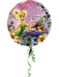 Globos Foil Campanilla Happy Birthday - Redondo 45cm - A-2655701