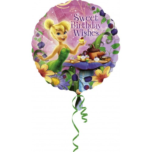 Globo Campanilla Happy Birthday - Redondo 45cm Foil Poliamida - A2655701