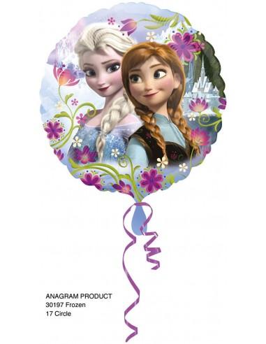 Globos Foil Frozen Anna y Elsa - Redondo 45cm - A-3019701