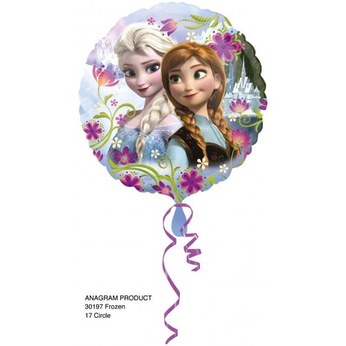 Globo Frozen Anna y Elsa - Redondo 45cm Foil Poliamida - A3019701