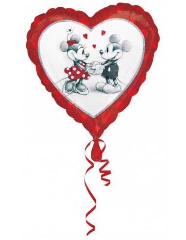 Globos Foil Mickey and Minnie Love Holografico - Corazon 45cm - A-2804001