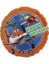 Globos Foil Aviones Happy Birthday - Redondo 45cm - A-2741401