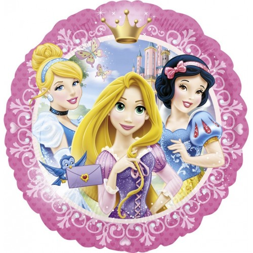 Globo Princesas Disney Retrato - Redondo 45cm Foil Poliamida - A2635301