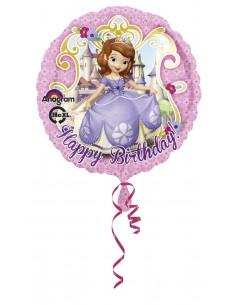 Globos Foil La Princesa Sofia Happy Birthday - Redondo 45cm - A-2753001
