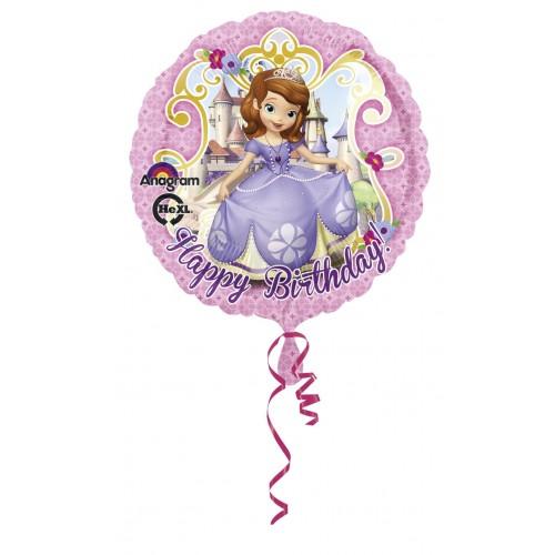 Globo La Princesa Sofia Happy Birthday - Redondo 45cm Foil Poliamida - A2753001