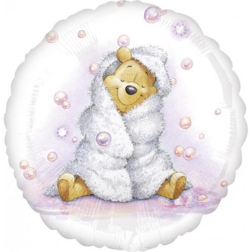 Globo Winnie the Pooh Baby Girl - Redondo 45cm Foil Poliamida - A2634863