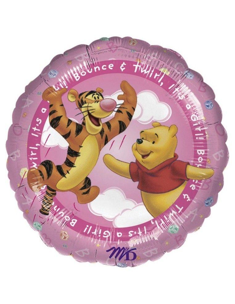 Globos Foil Winnie the Pooh Its A Girl - Redondo 45cm - A-0960401