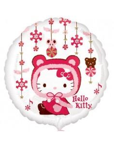 Globos Foil Hello Kitty Navidad - Redondo 45cm - A-2429401