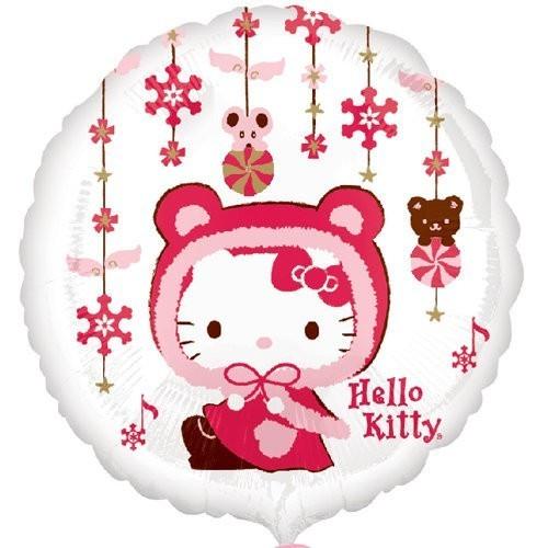Globo Hello Kitty Navidad - Foil Redondo 45cm Foil Poliamida - A2429401