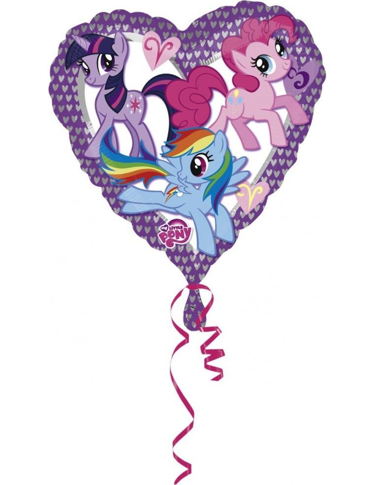 Globos Foil Mi Pequeño Pony Love - Corazon 45cm - A-2479701