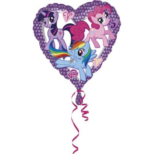 Globo Mi Pequeño Pony Love - Corazon 45cm Foil Poliamida - A2479701