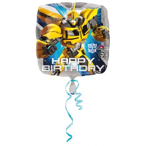 Globos Foil Transformers Happy Birthday - Cuadrado 45cm - A-2933201