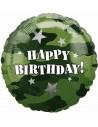 Globos Foil Birthday Camouflage - Redondo 45cm - A-118128-01