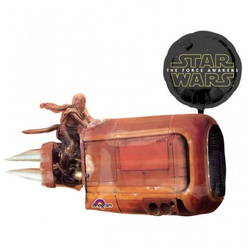 Globo Star Wars Reys Speeder - Forma 73x88cm Foil Poliamida -A3162201