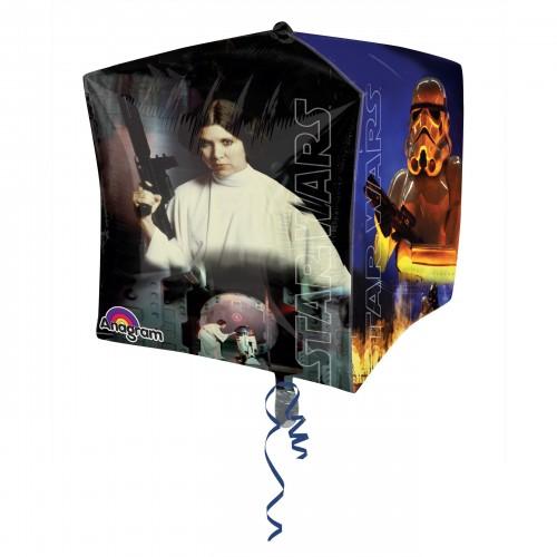 Globo Star Wars - Cubo 3D 43cm Foil Poliamida - A3039701