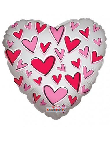 Globo Foil Corazon Amor Decoracion Transparente (K-34469-18) 45cm