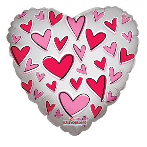 Globo Corazon 45cm Deco. Transp. Amor - Foil Poliamida - K3446918