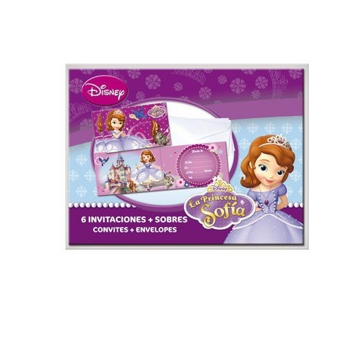 Invitaciones Princesa Sofia de 12x25cm