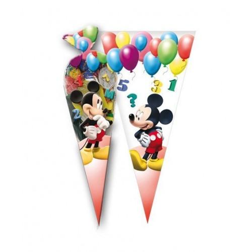 Bolsa Cono Mickey Mouse Globos de 20x40cm