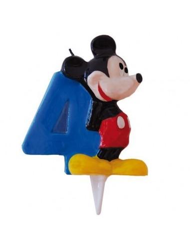 Vela Mickey Mouse Numero 4