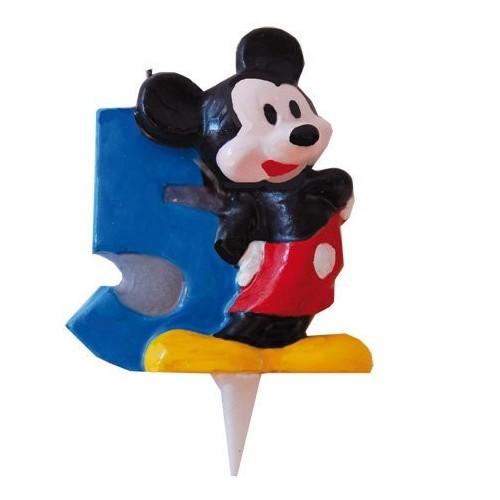 Vela Mickey Mouse Numero 5 - 1 UD