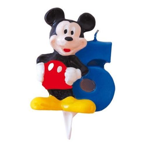 Vela Mickey Mouse Numero 6