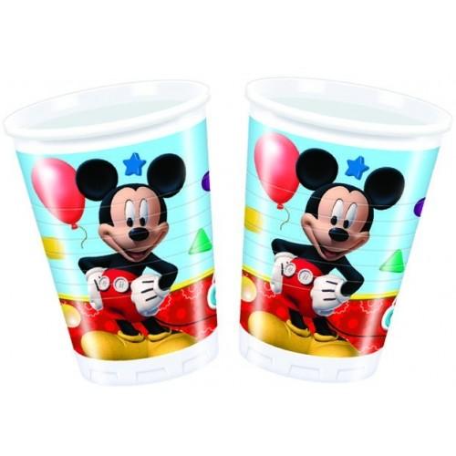 Vasos Mickey Mouse Club House de 200ml - 8 UDS