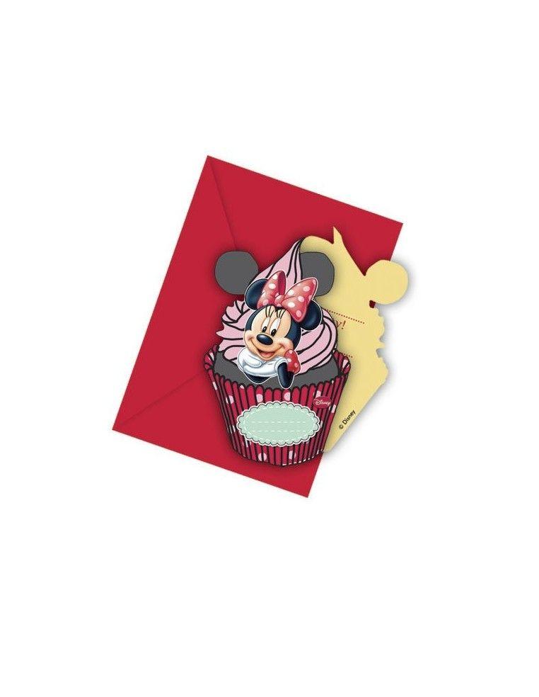 Invitaciones Minnie Mouse Cafe con Sobre