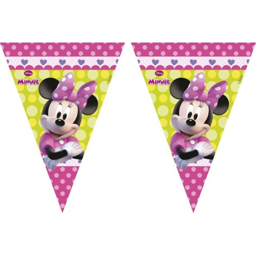 Banderin Minnie Mouse Rosa - 1 UD