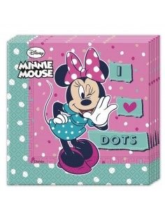 Servilletas Minnie Mouse Dots de 33x33cm