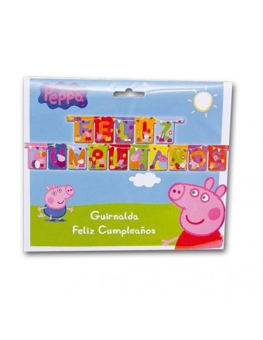 Guirnalda Peppa Pig Feliz Cumpleaños de 210cm