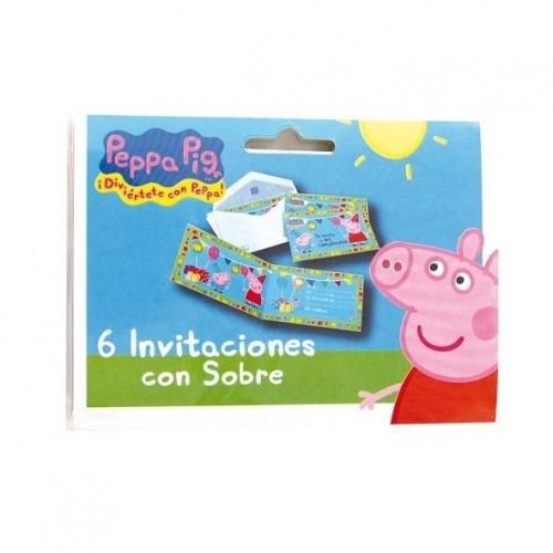 Invitaciones Peppa Pig con Sobre