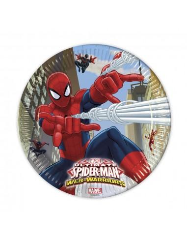 Platos Spiderman de 23cm