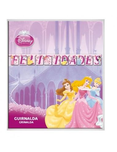 Guirnalda Princesas Disney Felicidades de 120cm