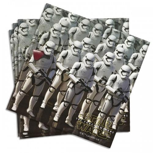 Servilletas Star Wars The Force Awakens de 33x33cm - 20 UDS