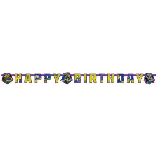 Guirnalda Tortugas Ninja Happy Birthday de 180x15cm - 1 UD