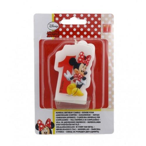 Velas Minnie Mouse Cafe Numero 1 - 1 UD