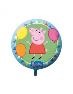 Globo Peppa Pig - Redondo 23cm Foil Poliamida