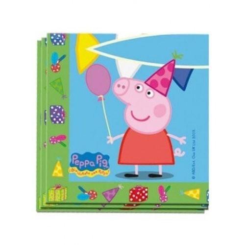 Servilletas Peppa Pig de 33x33cm