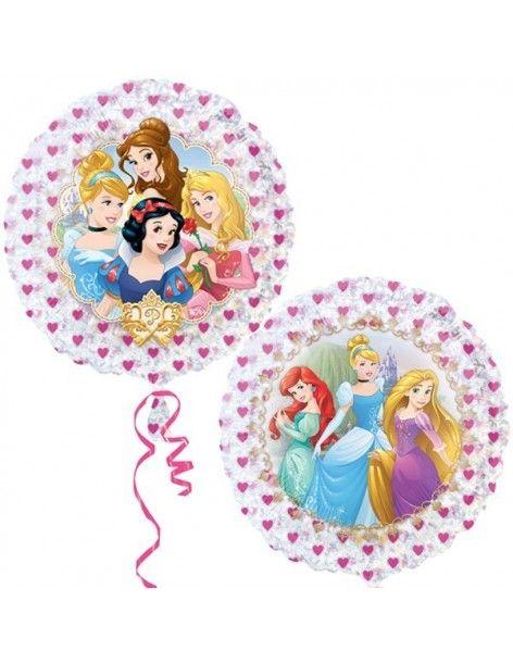 Globo Princesas Disney Holografico Redondo 53cm Foil Poliamida 3292802
