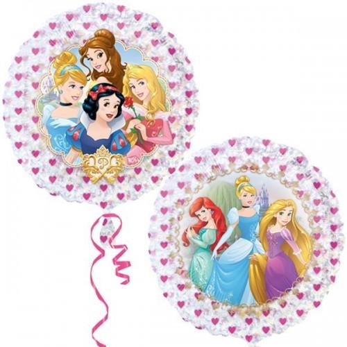 Globo Princesas Disney Holografico - Redondo 53cm Foil Poliamida - A3292802