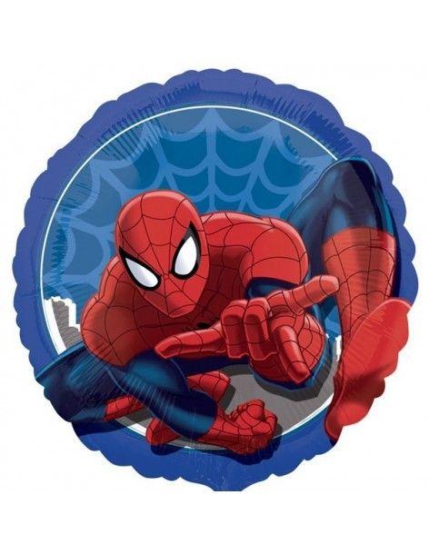 Globo SpiderMan Redondo 45cm Foil Poliamida 3291702