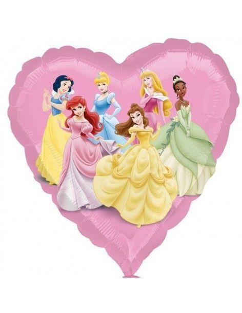 Globo Princesas Disney Corazon 45cm Foil Poliamida 2294702